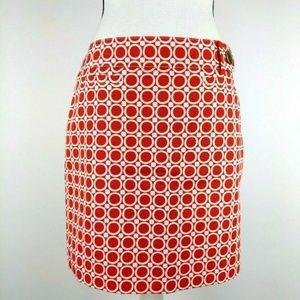 Ann Taylor Retro Mini Pencil Skirt Circle Print